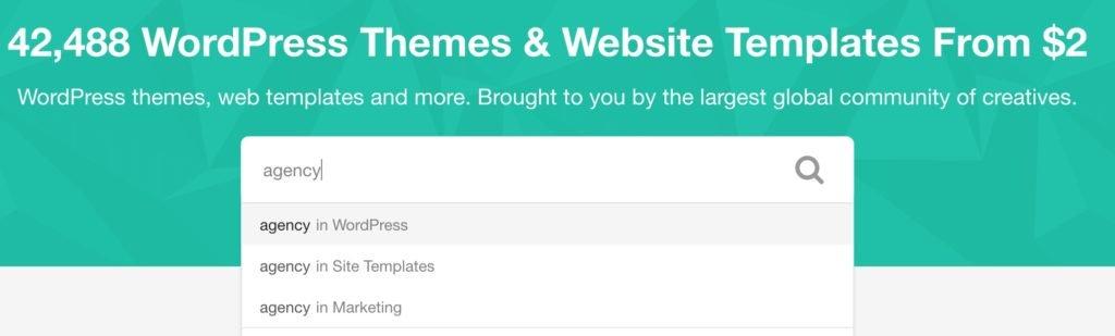 fullskill guide themeforest : comment lancer une recherche avec un mot clé